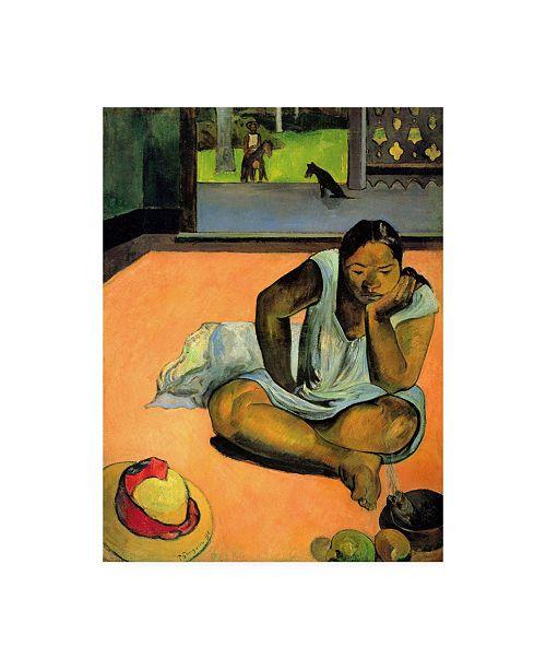 "Trademark Global Paul Gauguin La Boudeuse (Te Faaturuma) Canvas Art - 36.5"" x 48"""