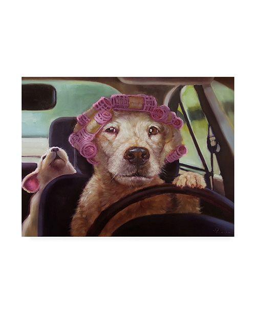 "Trademark Global Lucia Hefferna Mommy Chauffeur Canvas Art - 36.5"" x 48"""