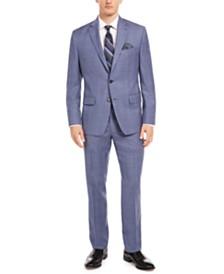 Lauren Ralph Lauren Men's Classic-Fit UltraFlex Stretch Light Blue Check Suit Separates