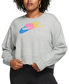 Plus Size Sportswear Fleece Crewneck Sweatshirt