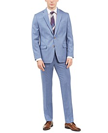 Men's Classic-Fit UltraFlex Stretch Light Blue Solid Suit Separates