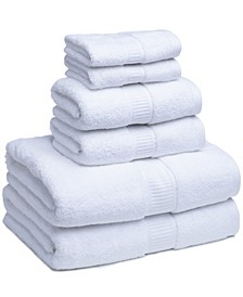 Turkish Cotton Solid 6-Pc. Towel Set