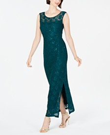 Connected Petite Lace Gown