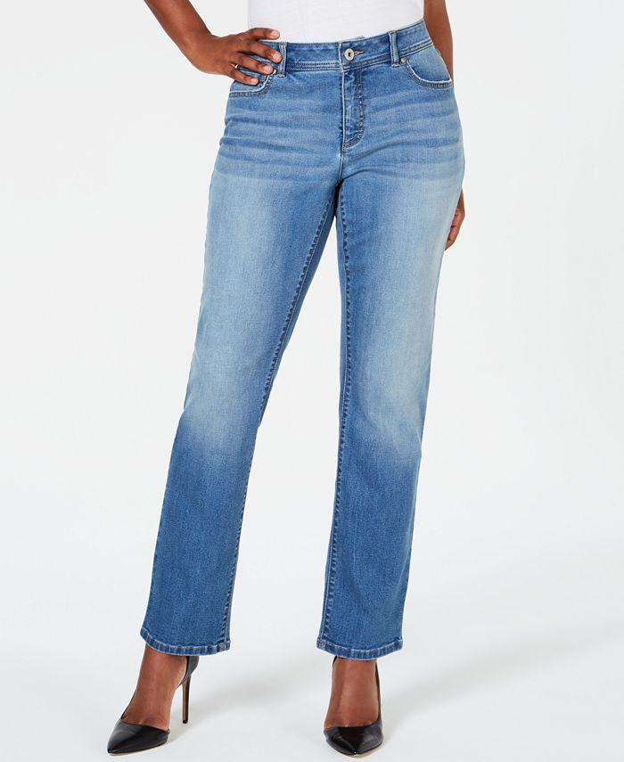 INC International Concepts - Curvy-Fit Straight-Leg Jeans