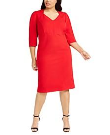 Plus Size New V-Neck Sheath Dress