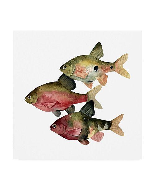 "Trademark Global Emma Scarvey Rainbow Fish I Canvas Art - 15"" x 20"""