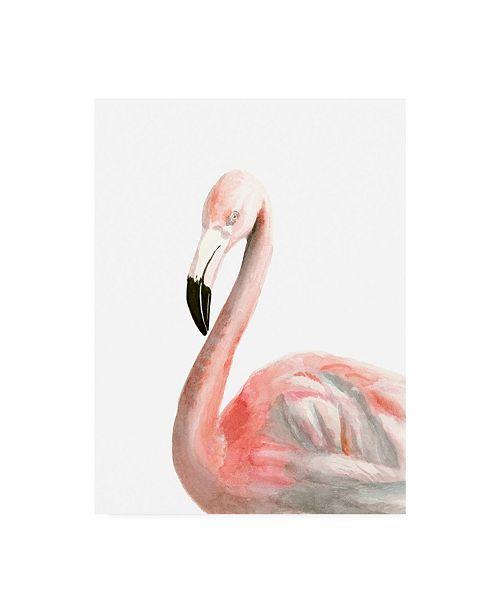 "Trademark Global Naomi Mccavitt Watercolor Flamingo Canvas Art - 37"" x 49"""