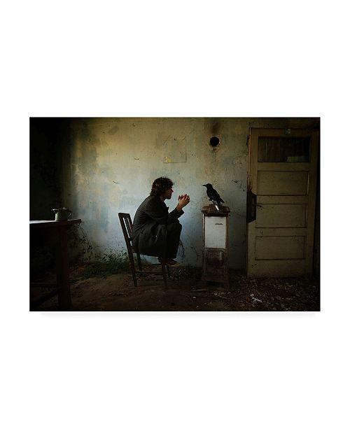 "Trademark Global Mario Grobenski The Raven Dark Scene Canvas Art - 20"" x 25"""