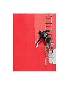 "Sebastian Kisworo Painting in Progress Canvas Art - 20"" x 25"""