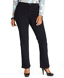 Plus & Petite Plus Size Tummy-Control Bootcut Jeans, Created for Macy's