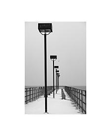 """Kurt Shaffer Frozen Pier Canvas Art - 37"""" x 49"""""""