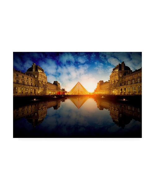 "Trademark Global Massimo Cuomo Le Louvre Canvas Art - 37"" x 49"""
