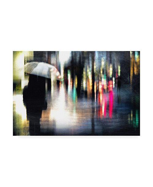 "Trademark Global Teru Rainy Day Umbrellas Canvas Art - 20"" x 25"""