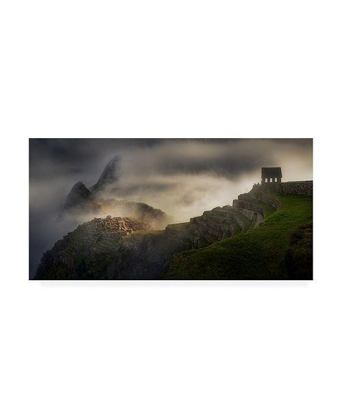 "Trademark Global Veselin Atanasov Machu Pichu Fog Canvas Art - 15"" x 20"""