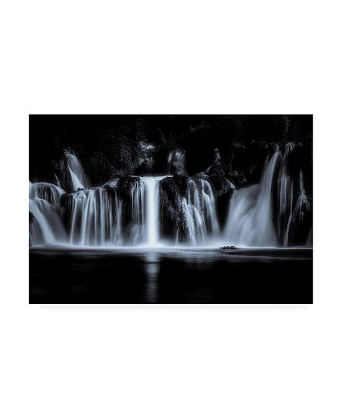 """Trademark Global Marc Huybrighs White Water Fall Canvas Art - 20"""" x 25"""""""