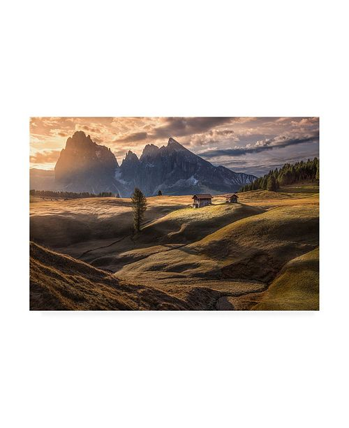 "Trademark Global Peter Svoboda Mqep as the First Rays Warm Up the Land Canvas Art - 15"" x 20"""