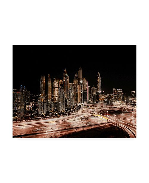 """Trademark Global Carmine Chiriaco From Above Emirates Canvas Art - 20"""" x 25"""""""