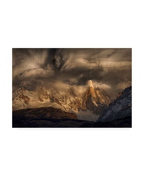 """Trademark Global Peter Svoboda Mqep Before the Storm Covers the Mountains Spikes Canvas Art - 20"""" x 25"""""""