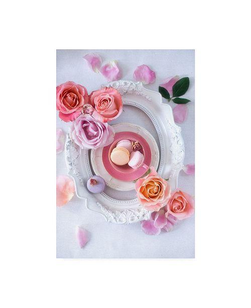 """Trademark Global Elena Karagyozova Pink Romance Canvas Art - 20"""" x 25"""""""