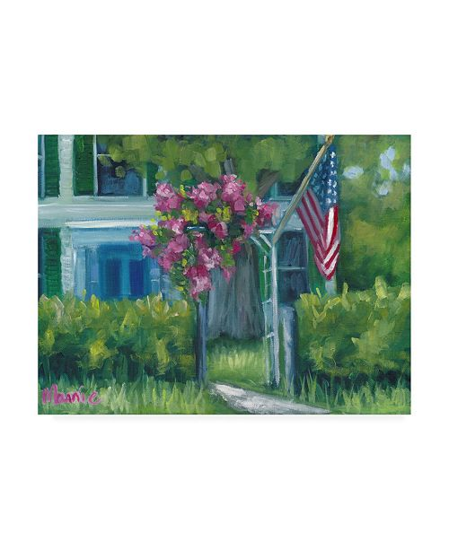 """Trademark Global Marnie Bourque Blooming Pink Flowers Canvas Art - 20"""" x 25"""""""
