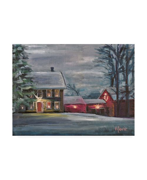 "Trademark Global Marnie Bourque Sterling Hill Twilight Canvas Art - 20"" x 25"""