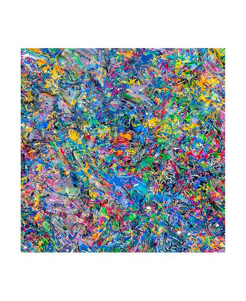 "Trademark Global Mark Lovejoy Abstract Splatters Lovejoy 2 Canvas Art - 20"" x 25"""