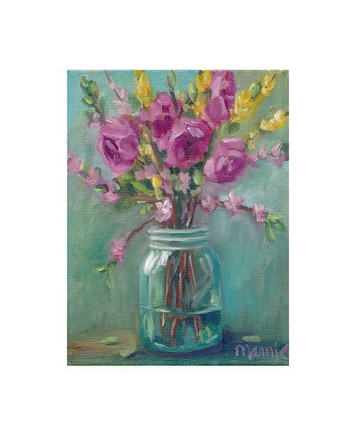"Trademark Global Marnie Bourque Spring Blossoms I Canvas Art - 20"" x 25"""
