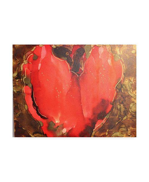 "Trademark Global Michelle Mccullough Big Heart Canvas Art - 20"" x 25"""