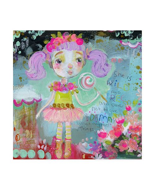 "Trademark Global Mindy Lacefield Wild and Free Purple Hair Canvas Art - 20"" x 25"""