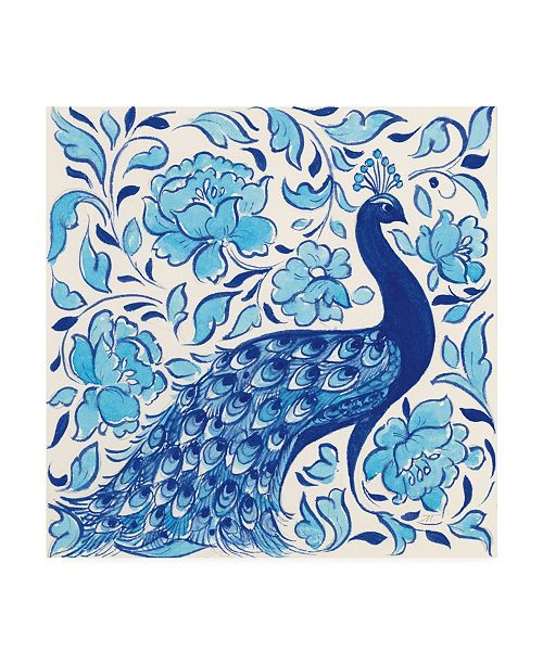 """Trademark Global Miranda Thomas Peacock Garden IV Canvas Art - 20"""" x 25"""""""