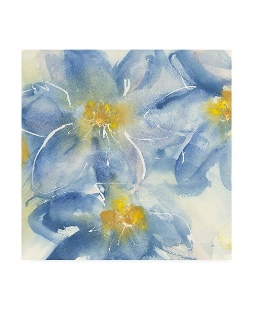 "Trademark Global Chris Paschke Tinted Clematis I Canvas Art - 15"" x 20"""