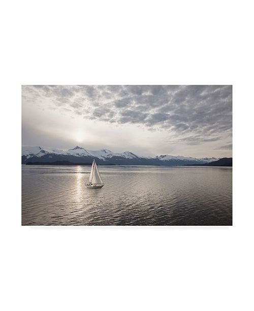 "Trademark Global Monte Nagler Sailing at Sunset Alaska Canvas Art - 20"" x 25"""