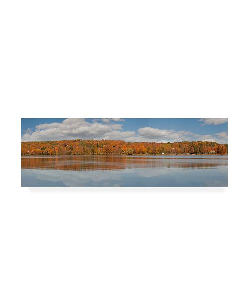"Trademark Global Monte Nagler Black River Panorama Wakefield Mi Canvas Art - 37"" x 49"""