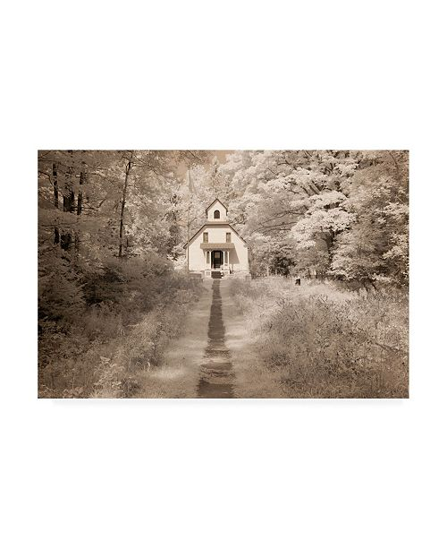 "Trademark Global Monte Nagler Home Forest Path Canvas Art - 20"" x 25"""