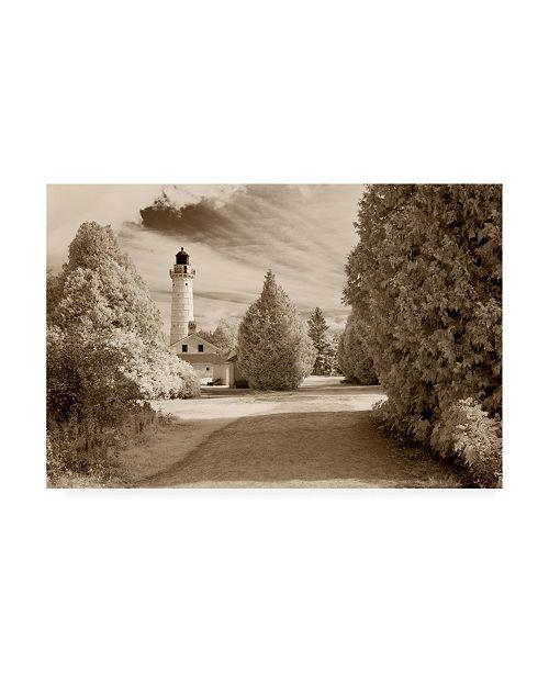"Trademark Global Monte Nagler Cana Island Lighthouse Door County Wisconsin Canvas Art - 20"" x 25"""