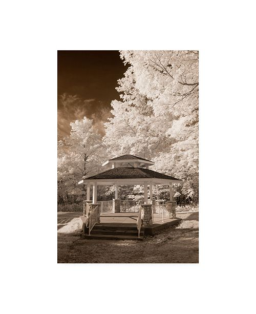 "Trademark Global Monte Nagler Gazebo Sepia Canvas Art - 37"" x 49"""
