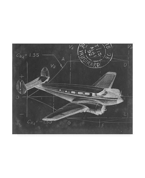 "Trademark Global Ethan Harper Flight Schematic IV Canvas Art - 37"" x 49"""