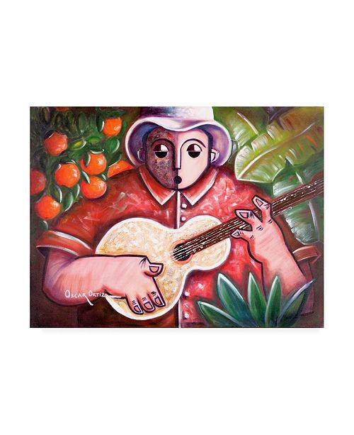 "Trademark Global Oscar Ortiz Musicians Guitar 3 Canvas Art - 19.5"" x 26"""