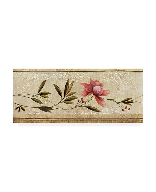 """Trademark Global Pablo Esteban Leaves to the Pink Flower Canvas Art - 15.5"""" x 21"""""""