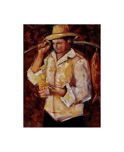 "Trademark Global Oscar Ortiz Jibaro De La Costa Canvas Art - 15.5"" x 21"""