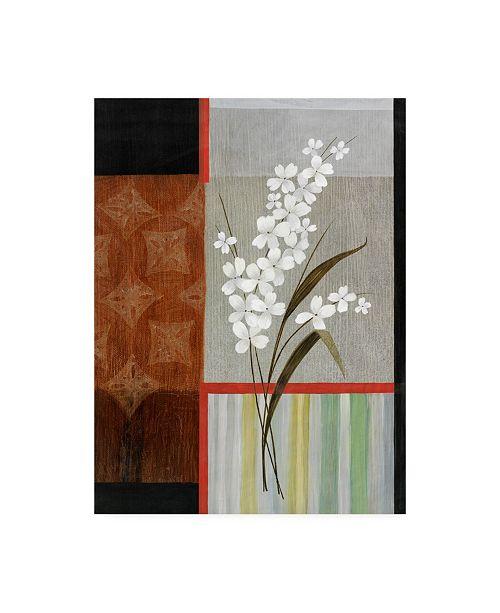 "Trademark Global Pablo Esteban White Flower Collage Canvas Art - 27"" x 33.5"""
