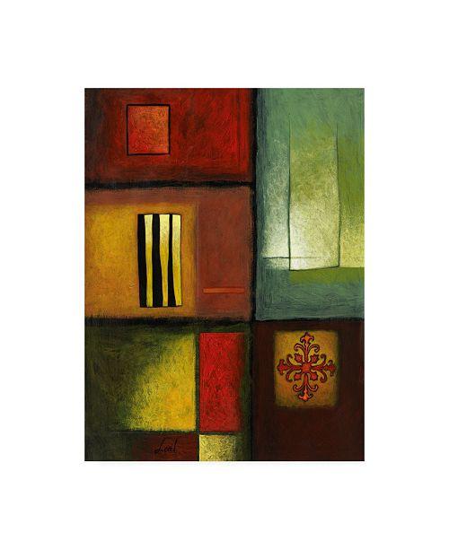 "Trademark Global Pablo Esteban Bold Gematric Panels 4 Canvas Art - 27"" x 33.5"""