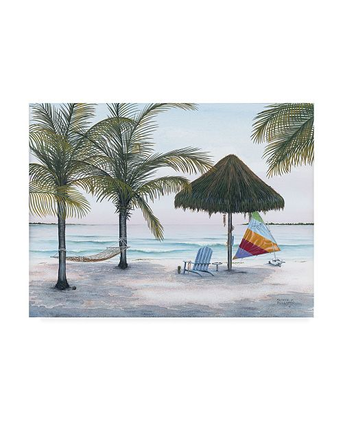 "Trademark Global Patrick Sullivan Thatched Afternoon Canvas Art - 15.5"" x 21"""