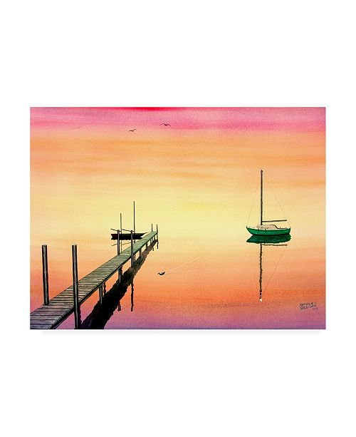 "Trademark Global Patrick Sullivan Pier & Boat Canvas Art - 27"" x 33.5"""