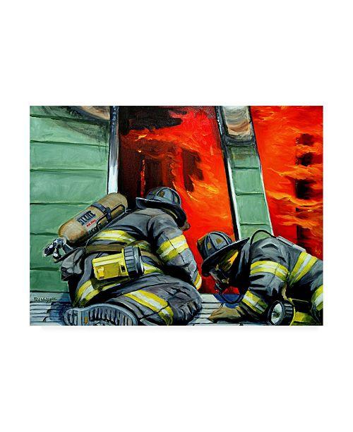 "Trademark Global Paul Walsh Outside Roof Art Canvas Art - 15.5"" x 21"""