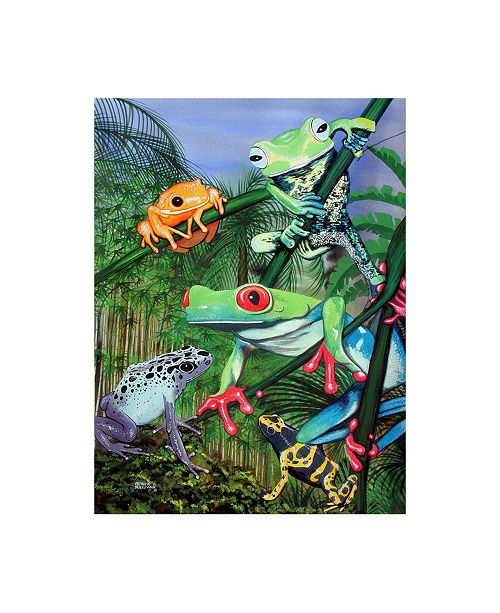 "Trademark Global Patrick Sullivan Tree Frogs Canvas Art - 27"" x 33.5"""