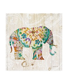 "Danhui Nai Boho Paisley Elephant I Canvas Art - 19.5"" x 26"""