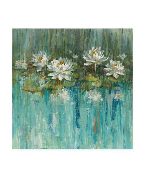 "Trademark Global Danhui Nai Water Lily Pond Painting Canvas Art - 15.5"" x 21"""