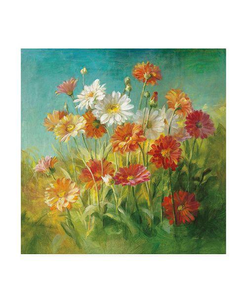 "Trademark Global Danhui Nai Painted Daisies Canvas Art - 19.5"" x 26"""