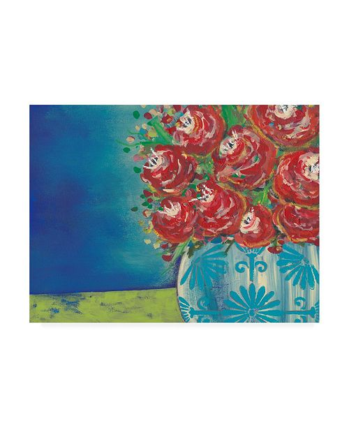 "Trademark Global Regina Moore Fearless Floral II Canvas Art - 36.5"" x 48"""